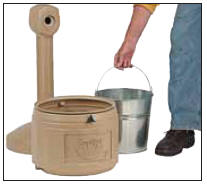 Easy to maintain cigarette waste container