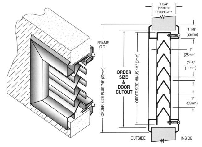 Bronze finish shown  sc 1 st  AMSCO & Door Hardware: Anemostat Door Louvers - Inverted Y