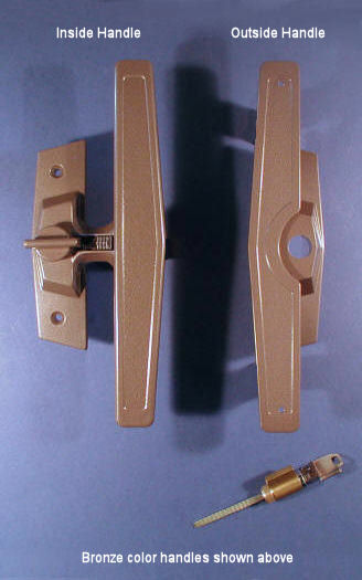 Bronze Truth Patio Door Handles