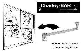patio door security bar charley bar - Sliding Glass Door Security Bar