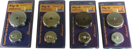 Flip It Tub Stopper and Overflow Plate Conversion Kit